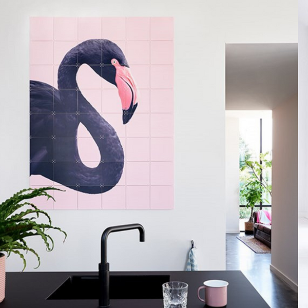 Ixxi | IXXI Black Flamingo 120x160cm | Shut the Front Door