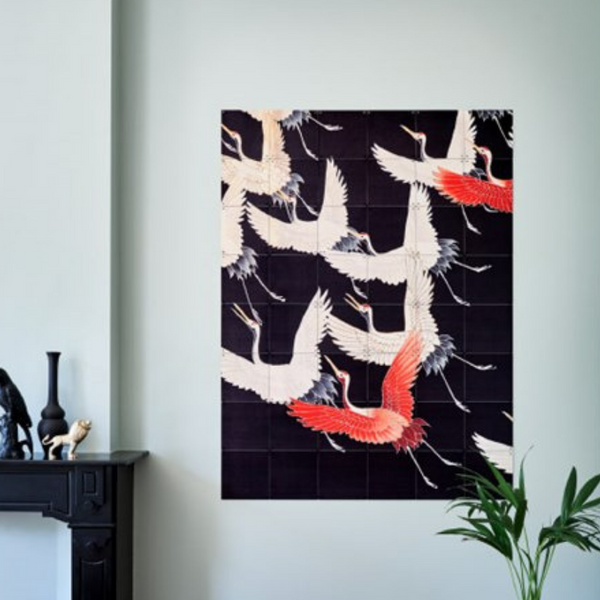Ixxi | IXXI Artwork Kimono Cranes - Double Sided 120x160cm | Shut the Front Door