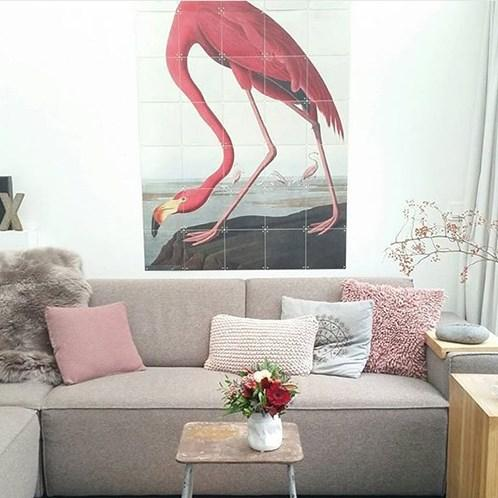 Ixxi | IXXI Artwork Flamingo Audubon 120x160cm | Shut the Front Door