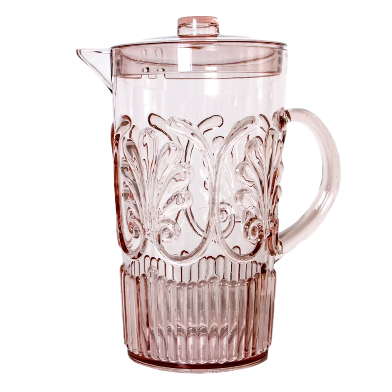 INDIGO LOVE | Flemington Acrylic Jug - Pink | Shut the Front Door