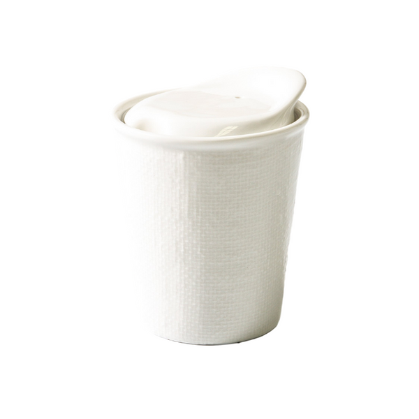 INDIGO LOVE | Its A Keeper Ceramic Cup - White Linen | Shut the Front Door