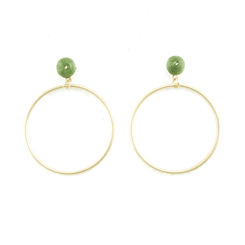 Holiday Accessories | Athens Earrings - Olive | Shut the Front Door