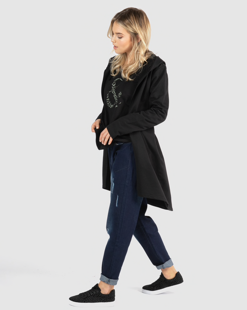 Betty Basics | Jaden Hoodie - Black | Shut the Front Door