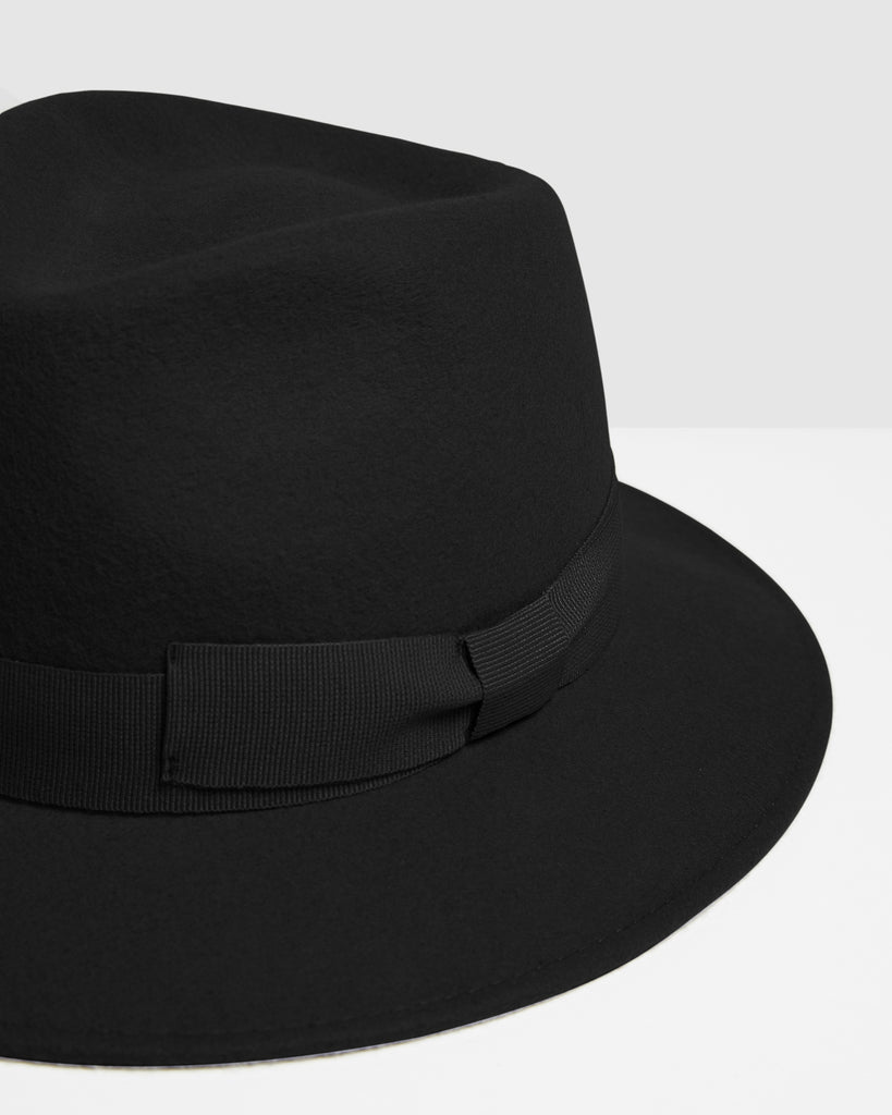Kate & Confusion | Laila Fedora Hat - Black | Shut the Front Door