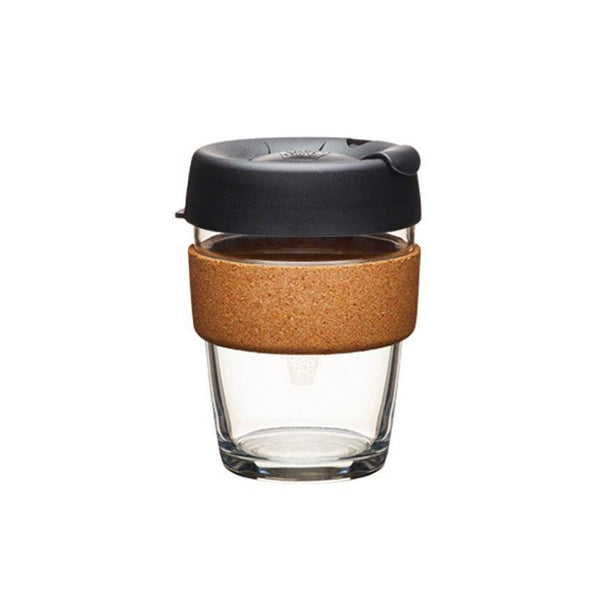 KeepCup | KeepCup Brew Cork Reusable Glass Coffee Cup 12oz / 340ml - Espresso | Shut the Front Door