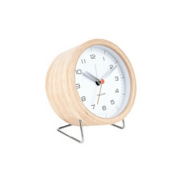 Karlsson | Clock Alarm Innate White | Shut the Front Door