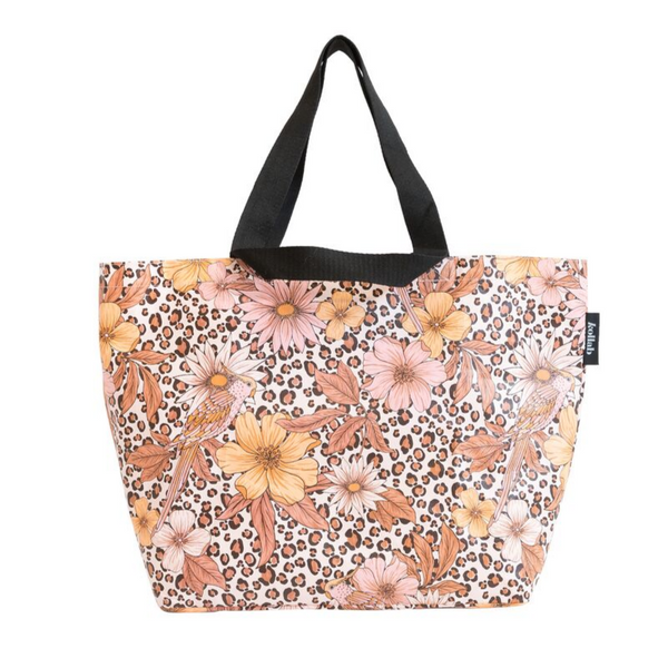 Kollab | Shopper Tote - Leopard Floral | Shut the Front Door