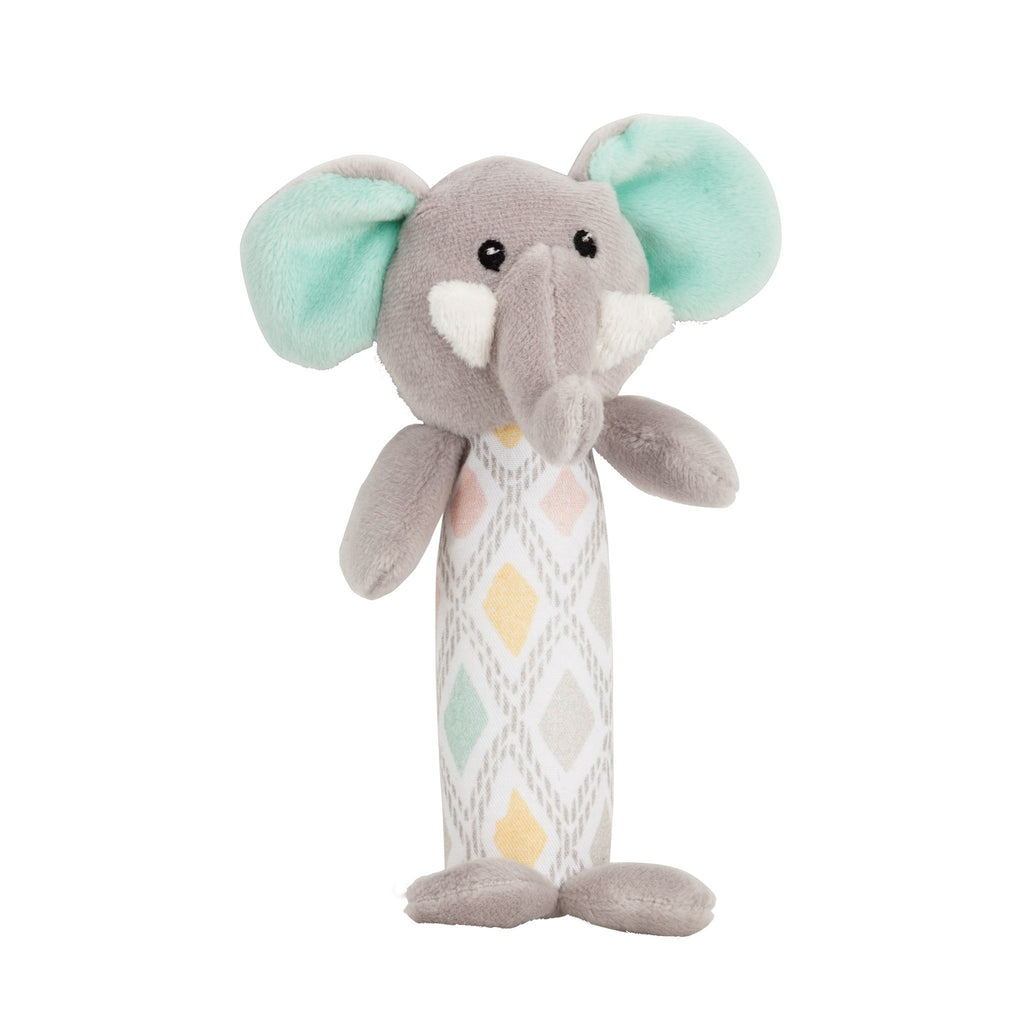 Lily and George | Evie Elephant HandRattle | Shut the Front Door
