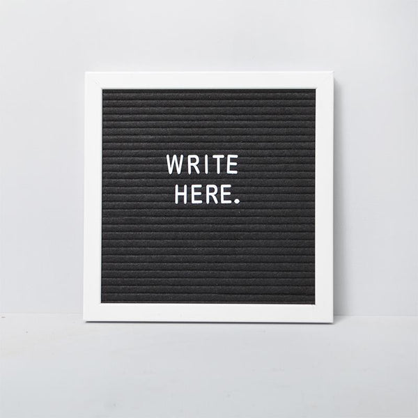White Moose | Memo Letter Board - Small - White | Shut the Front Door