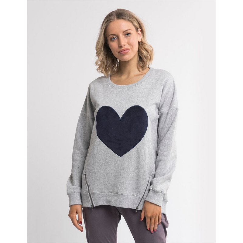 Elm Knitwear | Lilly Love Crew Grey Marle | Shut the Front Door