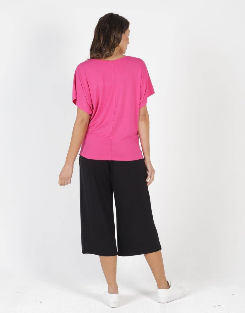 Betty Basics | Maui Tee - Fuchsia | Shut the Front Door
