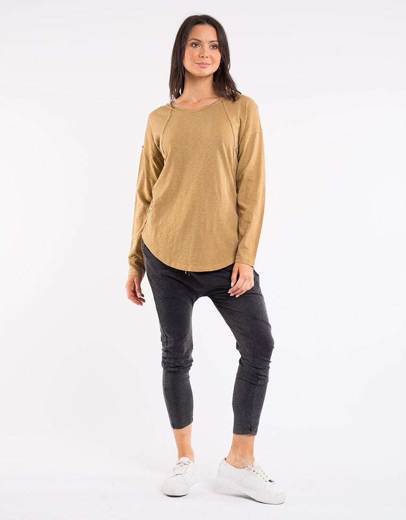 Foxwood | Mackenzie Long Sleeve Crew  MUSTARD | Shut the Front Door