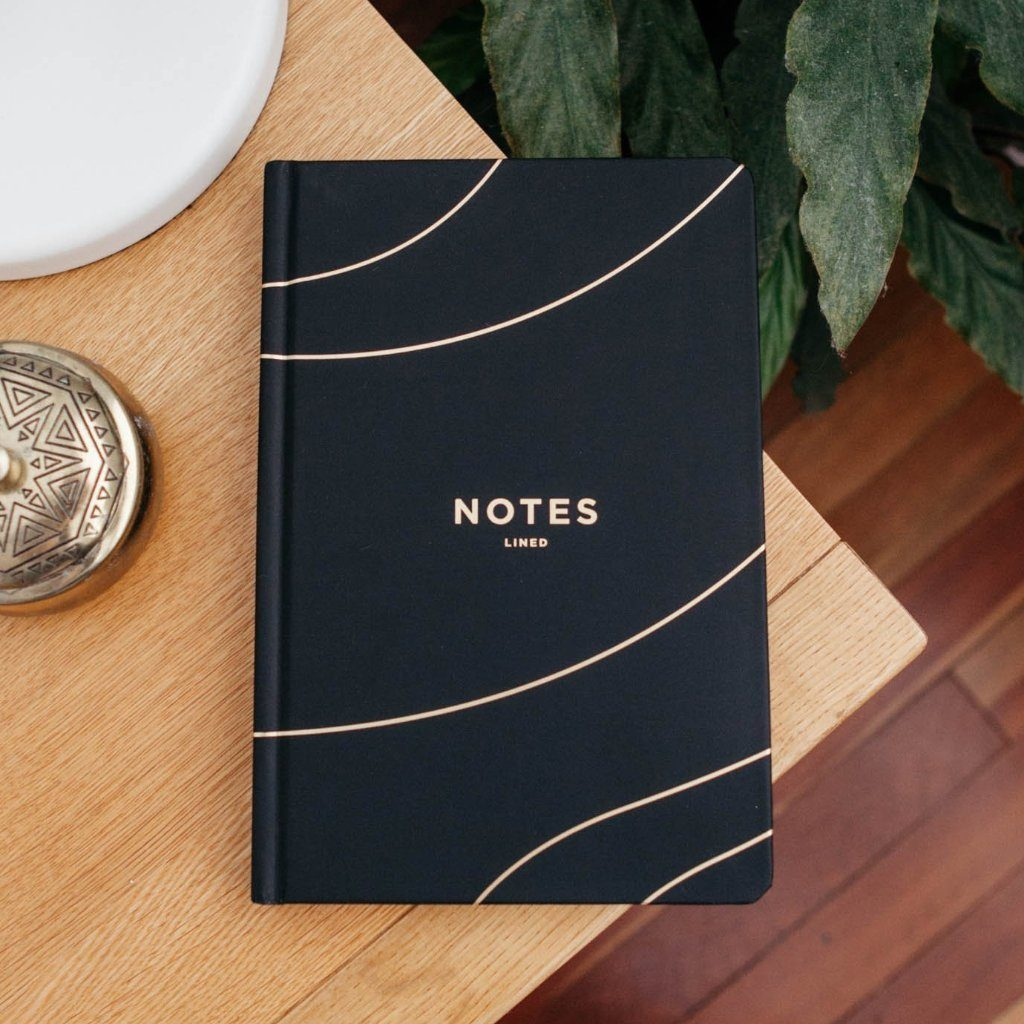 Frank | Notes Lined Journal - Black | Shut the Front Door