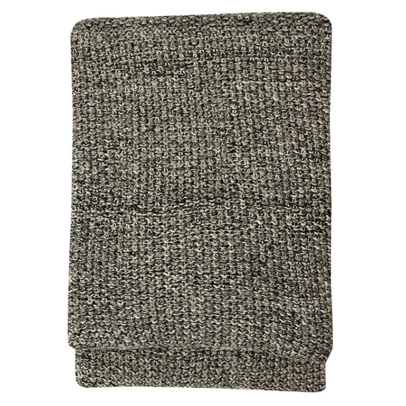 Mulberi | Milford Moss Stitch Throw BLACK/STONE 125x150cm | Shut the Front Door
