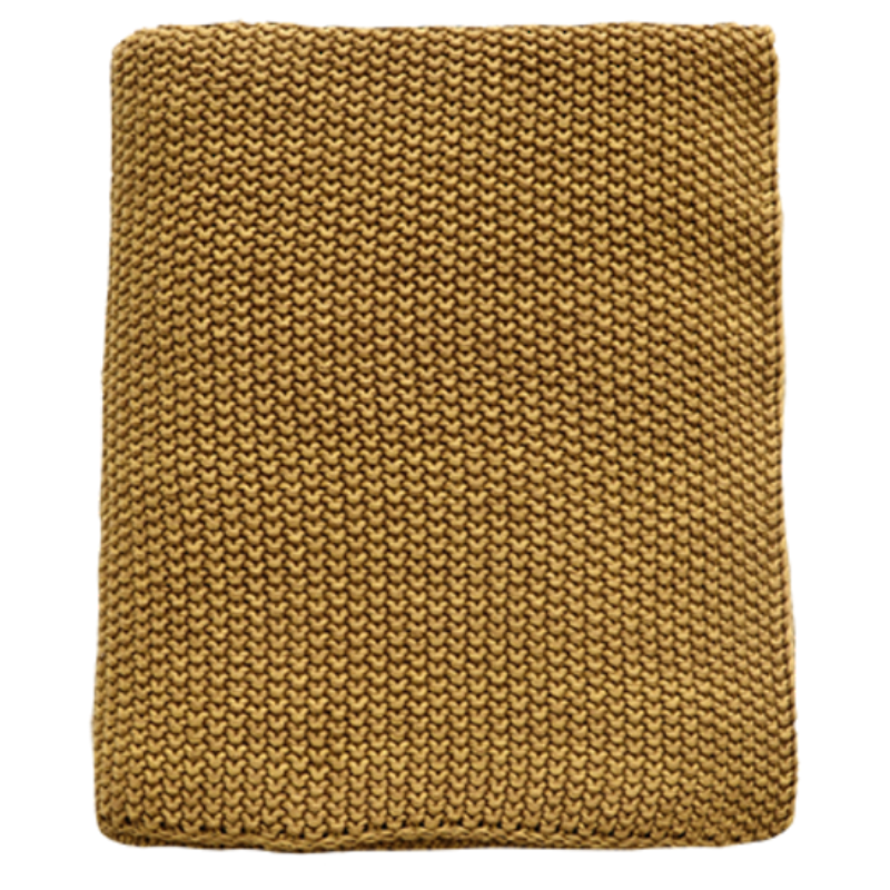 Mulberi | Milford Moss Stitch Throw HARVEST GOLD 125x150cm | Shut the Front Door