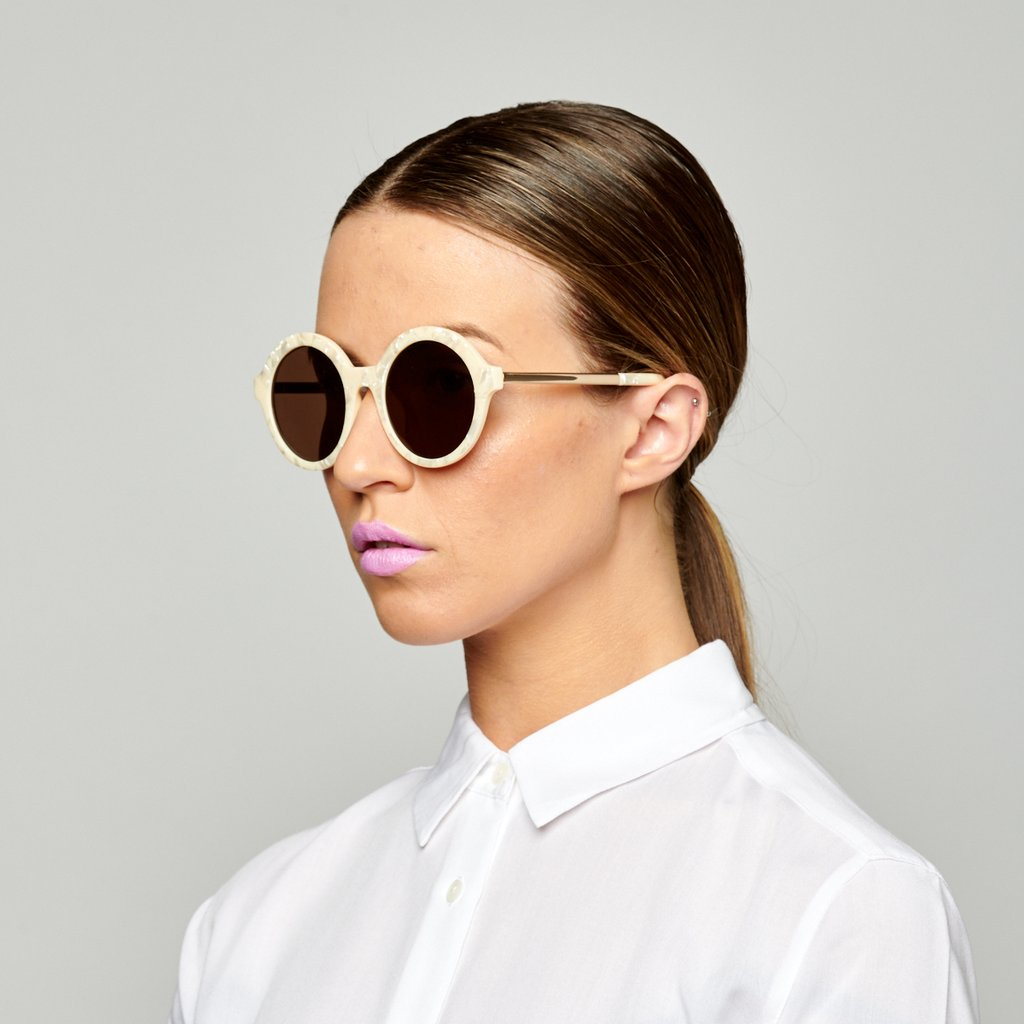 Reality Eyewear | Sunglasses - Mind Bomb - Beige Shell | Shut the Front Door