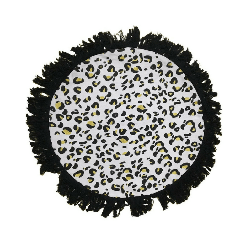 Ourlieu | Wild One Leopard Print Round Cushion 50cm | Shut the Front Door