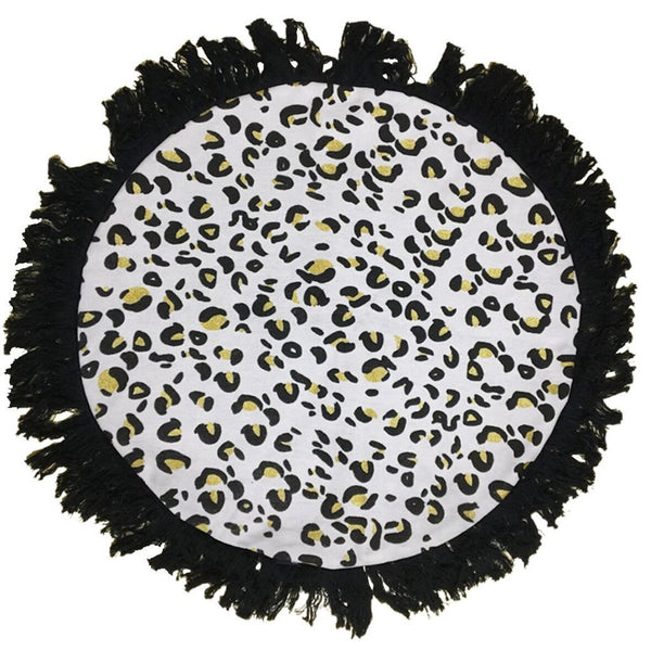 Ourlieu | Wild One Leopard Print Round Floor Cushion 70cm | Shut the Front Door