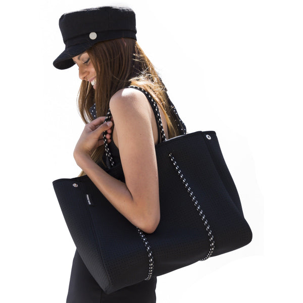 Prene Bags | Neoprene Tote Bag - Brighton Black | Shut the Front Door