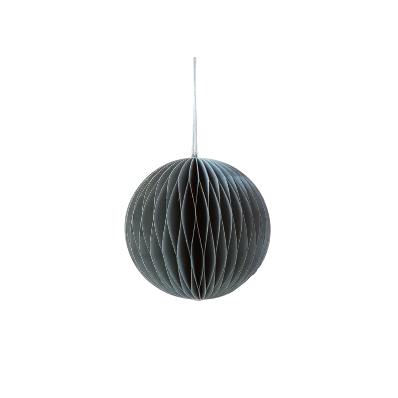 Down to the Woods | Paper Honeycomb Ball Decoration - Soot Grey | Shut the Front Door