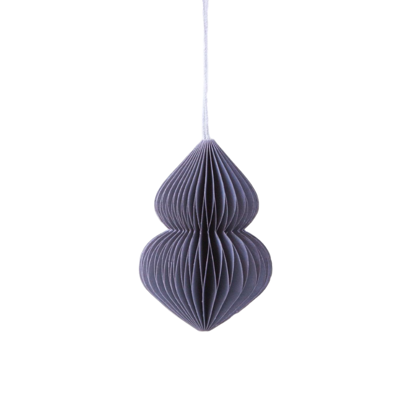 Down to the Woods | Paper Honeycomb Bulb Decoration - Soot Grey | Shut the Front Door