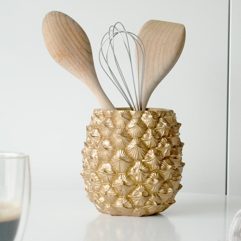 White Moose | Pineapple Planter - Gold | Shut the Front Door
