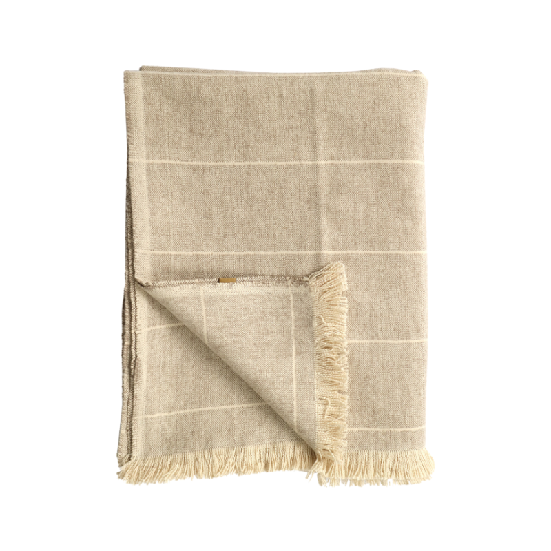 Raine & Humble | Brushed Wild Stripe Blanket - Stone | Shut the Front Door