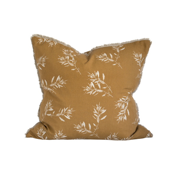 Raine & Humble | Olive Grove Cushion - Mustard | Shut the Front Door