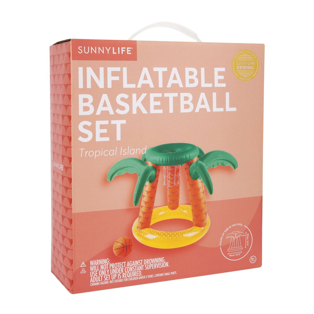 Sunnylife | Inflatable Basketball Set - Tropical Island | Shut the Front Door