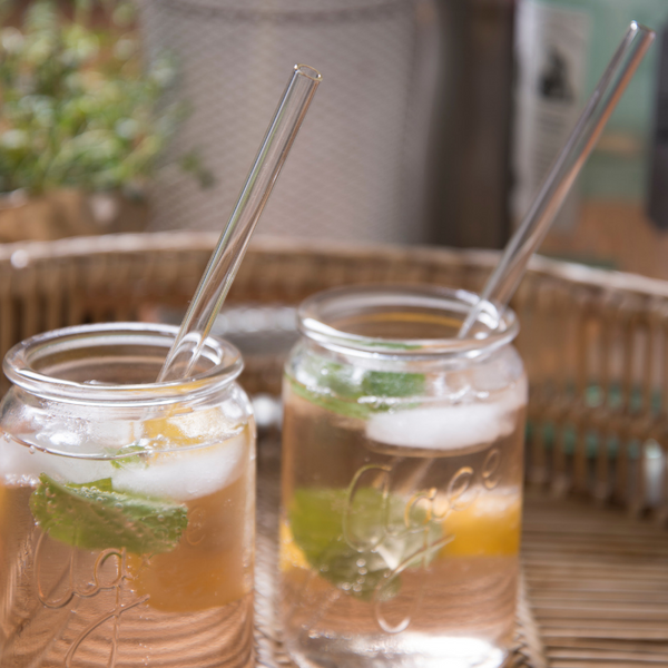 Save Planet A | Glass Drinking Straws 4pk | Shut the Front Door