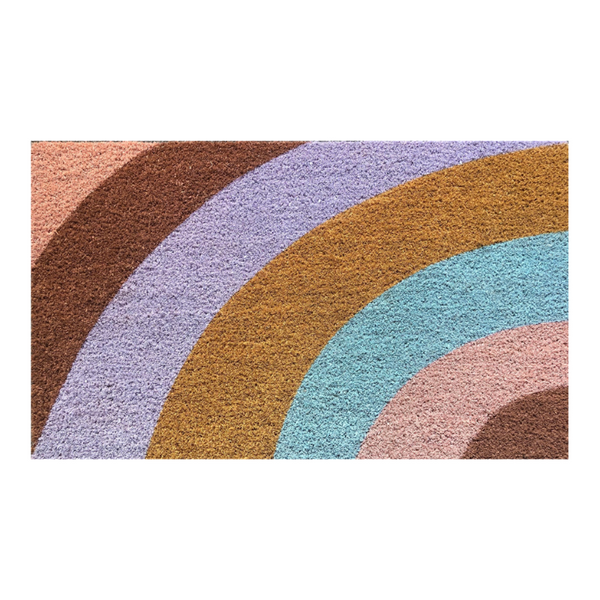 General Eclectic | Striped Doormat - Multi Colour | Shut the Front Door