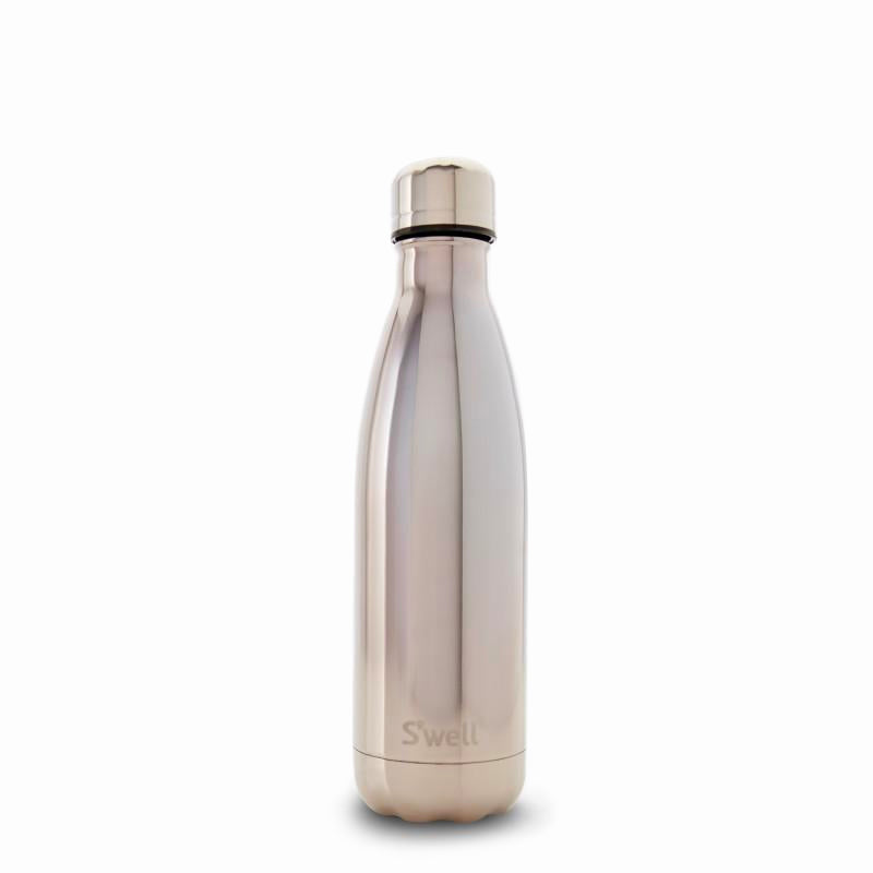 S'Well | S'Well Bottle 500ml Metallic Collection White Gold | Shut the Front Door