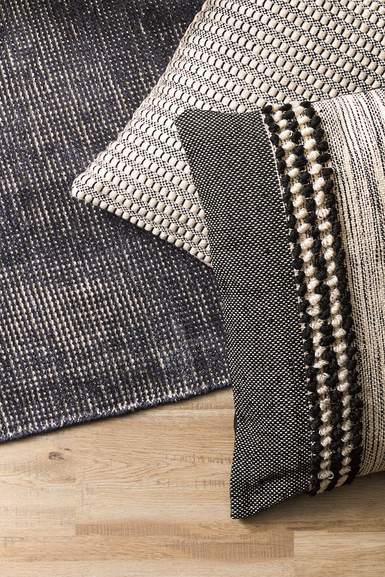 Mulberi | Sawyer Cushion 40x60cm - Black/White | Shut the Front Door