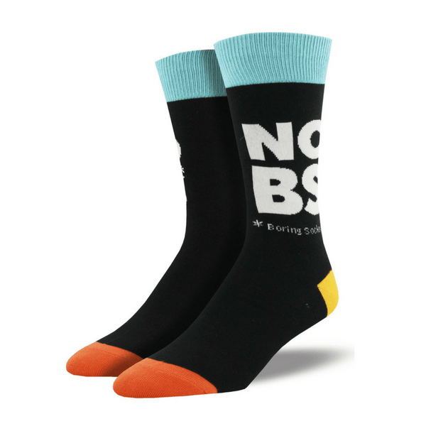 Socksmith | Socks Mens No Boring Socks Black | Shut the Front Door