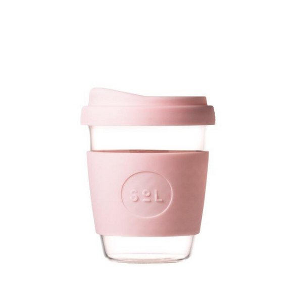 SOL | SOL Reusable Glass Coffee Cup - 12oz Perfect Pink | Shut the Front Door