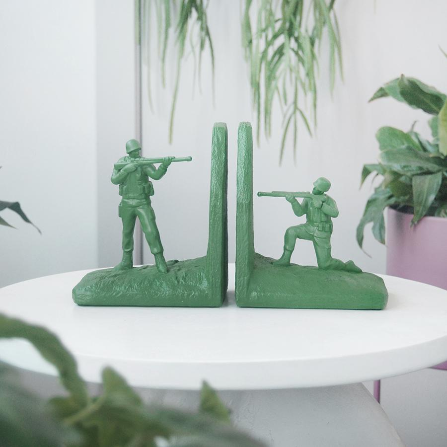 White Moose | Resin Soldier Bookends - Green | Shut the Front Door