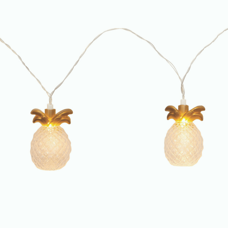 Sunnylife | String Lights - Gold Pineapple | Shut the Front Door