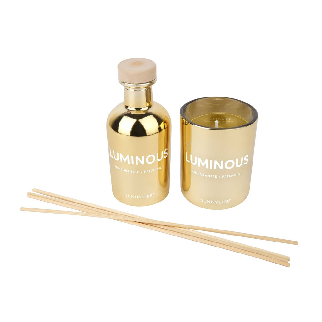 Sunnylife | Candle and Diffuser Set - Luminous | Shut the Front Door