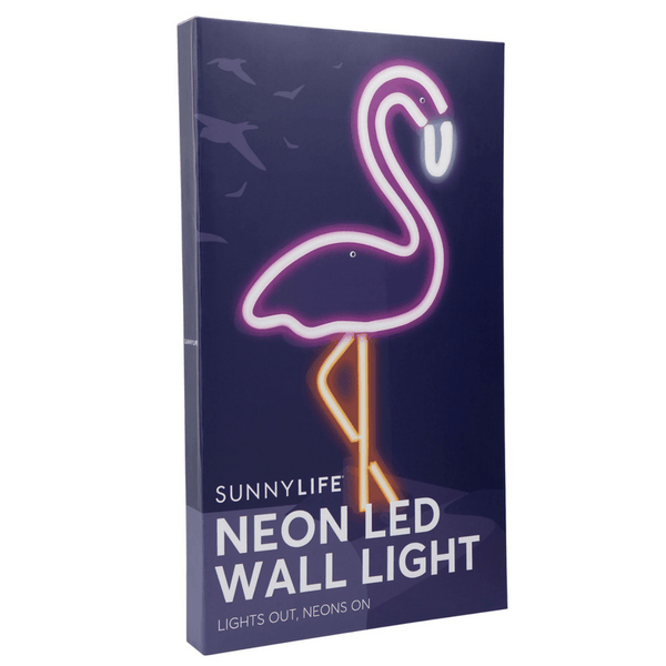 Sunnylife | Neon Wall Light LED Flamingo - LARGE | Shut the Front Door