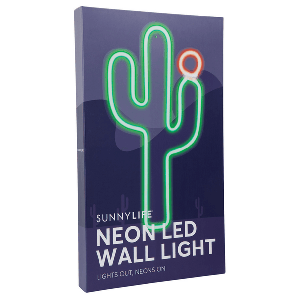 Sunnylife | Neon Wall LED Cactus Small | Shut the Front Door