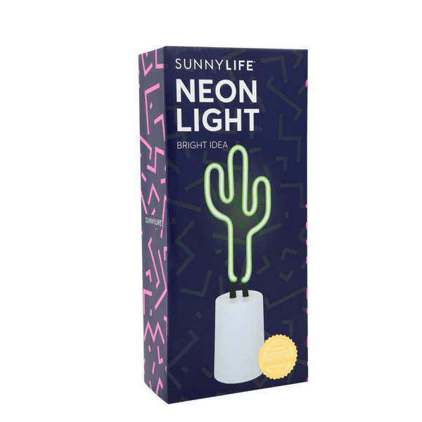Sunnylife | Neon Light Cactus Small SS18 | Shut the Front Door