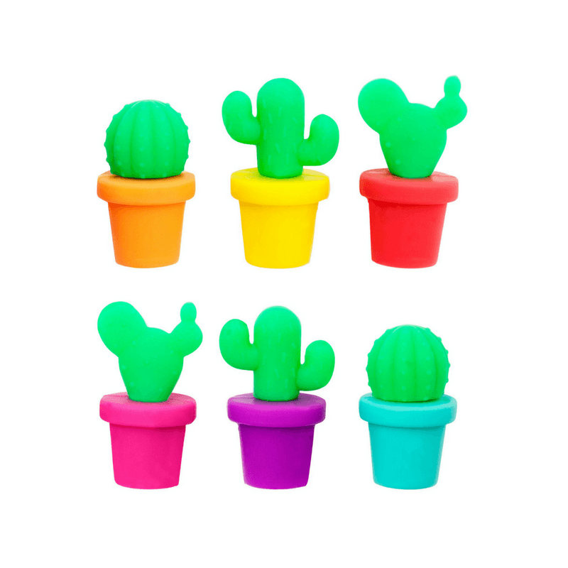Sunnylife | Cactus Glass Markers set of 6 | Shut the Front Door