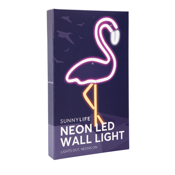 Sunnylife | Neon Wall LED Flamingo Small | Shut the Front Door