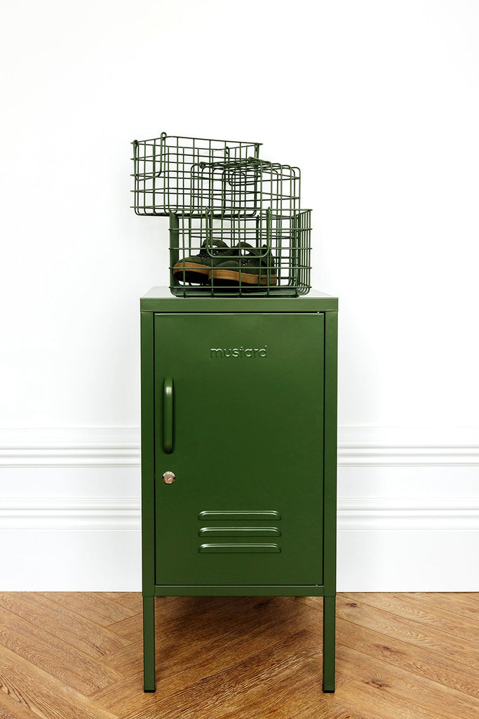 Mustard | Basket Large -  Olive | Shut the Front Door