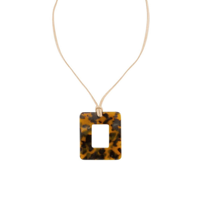 Tiger Tree | Necklace Square Tortoise | Shut the Front Door