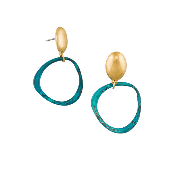 Tiger Tree | Earrings - Patina Hoops | Shut the Front Door