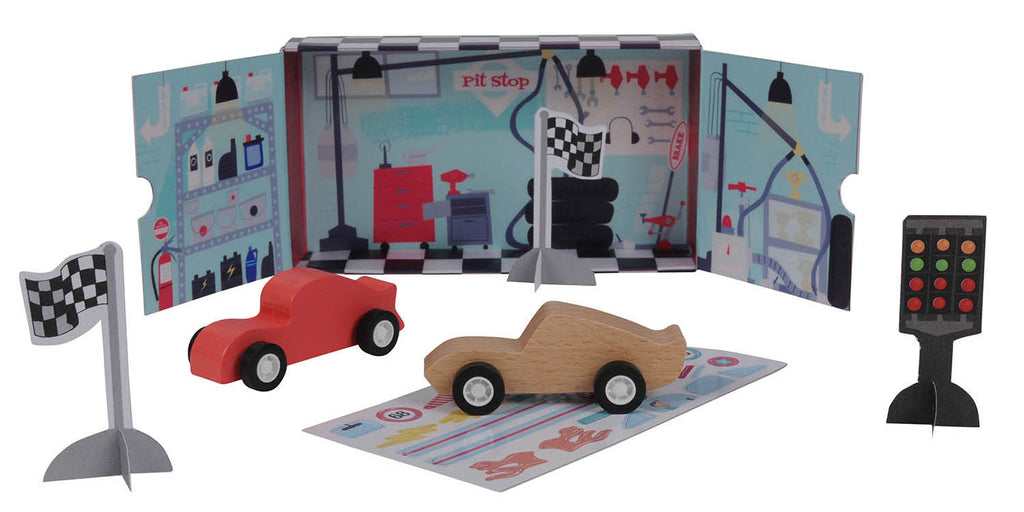 Tiger Tribe | Mini World Racing Playset | Shut the Front Door