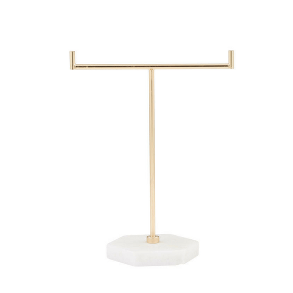 Albi | Jewellery Holder Small - Marble & Gold | Shut the Front Door