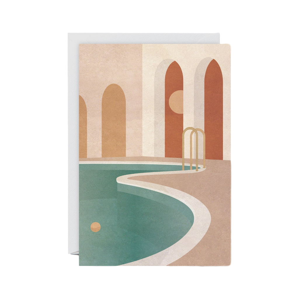 WRAP | Pool with Arches Greeting Card | Shut the Front Door