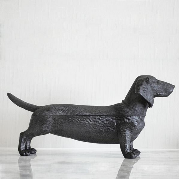 White Moose | Dachshund Secret Bowl BLACK | Shut the Front Door
